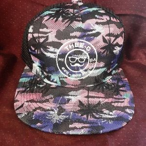 Thee-O Tropical Glow Trucker - Blue